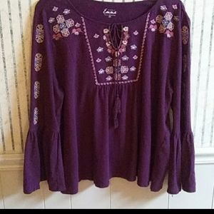 Simply Emma Purple Top Size 2X